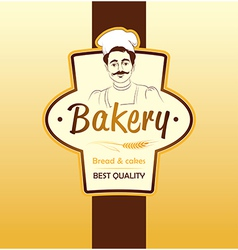 Bakery branding sign vector