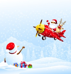 Good By Snowman vector image