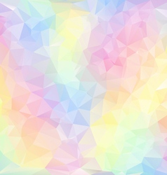 Pastel spring polygonal triangular pattern vector
