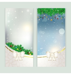 New year set of postcards vector