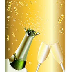 New years invitation vector