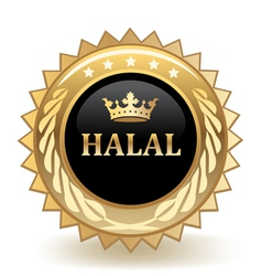 Halal badge vector