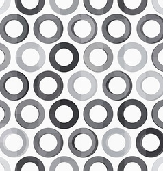Abstract monochrome circle seamless texture vector