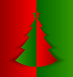 Simple folded christmas tree vector