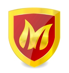 leaf emblem vector image