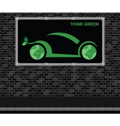 Car advertising board vector