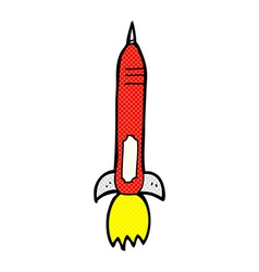 Comic cartoon missile vector