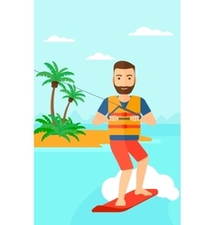 Professional wakeboard sportsman vector