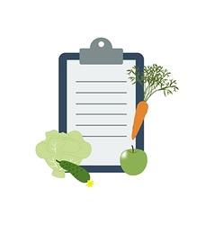 Healthy food and diet planning vector
