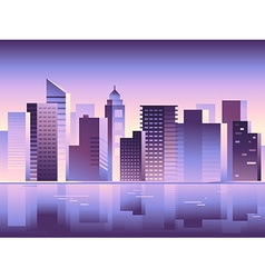 Abstract city landscape in bright gradient colors vector