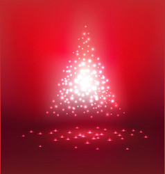 Abstract magic Light on red background for vector image vector image