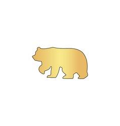 Bear computer symbol vector image vector image