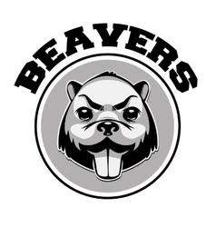 Beaver logo black and white head vector