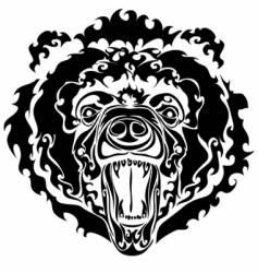 black bear vector image vector image