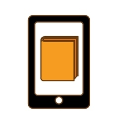 Book download and cellphone related icons image vector