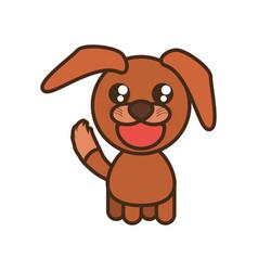 Cute doggy toy kawaii image vector