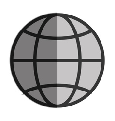 Earth globe diagram vector