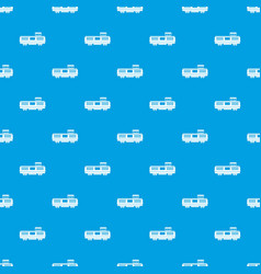Freight train pattern seamless blue vector