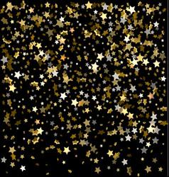 gold sparkles on a black background gold vector image