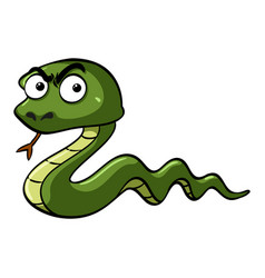 Green snake with serious face vector
