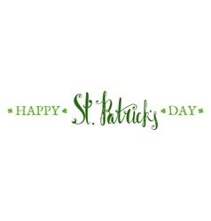 Happy st patricks day lettering vector