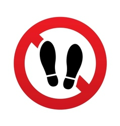 Imprint soles shoes sign icon shoe print symbol vector