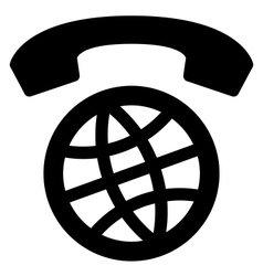 International calls worldwide icon vector image