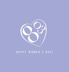 international women day greeting card vector image vector image