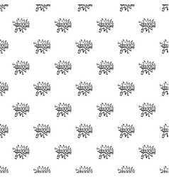 Kaboom explosion pattern vector