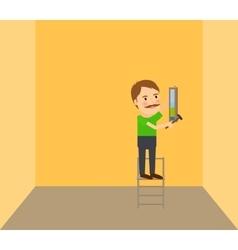 Man making repair vector image vector image