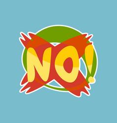 no sticker social media network message badges vector image vector image