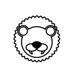 Outline lion head animal vector