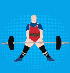 Powerlifting athlete deadlift vector