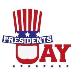 Presidents Day in USA Patriotic symbols vector image
