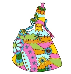 Princess colorful silhouette vector