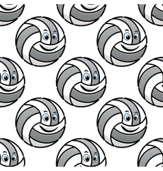 Seamless pattern of cartoon volleyballs vector image