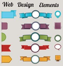 Set of retro web design elements vector image vector image