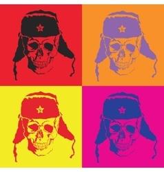 skull Pop art vector image vector image