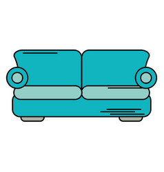 sofa comfor furniture design vector image vector image