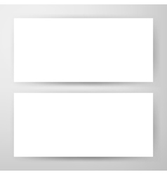 Two Horizontal Banners Mockup vector image vector image