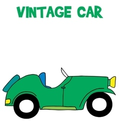 Vintage car of art vector