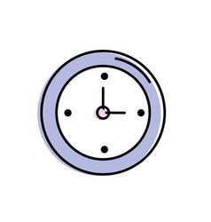 wall clock design to know the time vector image