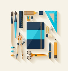Workplace tools vector image vector image