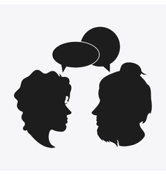 People bubble head silhouette design vector