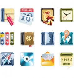 universal square icons vector image