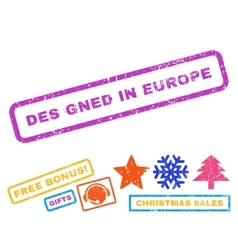 Designed in europe rubber stamp vector