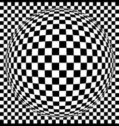 Op art sphere vector