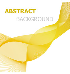 Yellow line wave abstract background vector