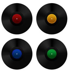 Vinyl record set vector