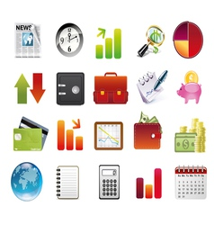 business and financial icons vector image